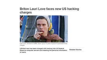 Lauri Love. Kuvakaappaus BBC:n verkkosivuilta