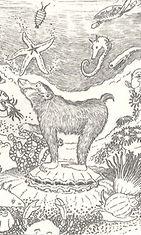 Vanhan Japanin taruja -teoksen kuvitusta