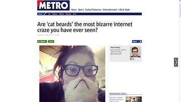 Kissaparta! Kuvakaappaus http://metro.co.uk-sivustolta