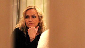 Anu Sinisalo Ei kiitos -elokuvan pressitilaisuudessa 7.1.2014