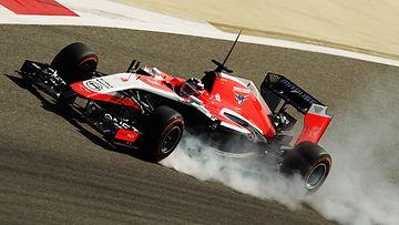 Max Chilton ajelaa MR03:lla Bahrainissa.