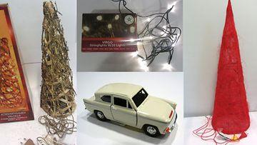 Myös Juhlataika Kartio -valo, Ford Anglia -pikkuauto, Finn Lumour -lamppusarja ja Virgo-jouluvatot löytyvät listalta.