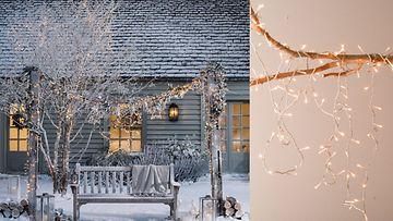 Jouluvalot luovat upean tunnelman. Kuvat: White Company.