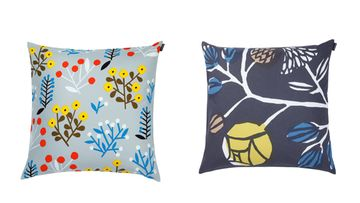 Sohvatyynyillä päivität vanhan sohvan. Kuvat: Marimekko.