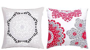 Sohvatyynyillä piristät olohuoneen ilmettä nopeasti. Kuvat: Luhta.