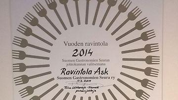 Vuoden ravintola 2014 on ravintola Ask.