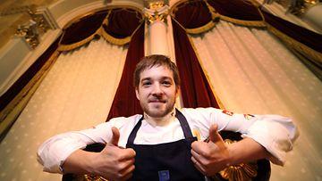 Keittiömestari Filip Langhoff Helsingissä 2. joulukuuta 2008.