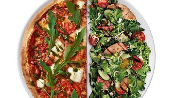 Kevyemmän ruoan ystävälle tarjolla on myös splizzasalaatti.