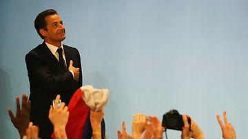 Nicolas Sarkozy vuonna 2007, kun hänestä tuli presidentti.