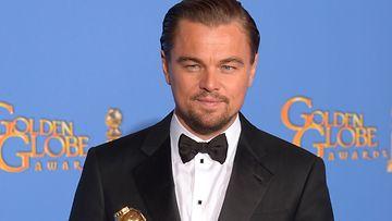Leonardo DiCaprio palkittiin.