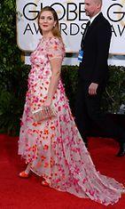 Drew Barrymore Golden Globes -palkintogaalassa.
