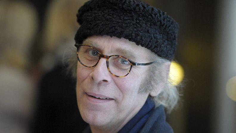 Vesa Vierikko (Lennart Lindberg) Risto Räppääjä ja liukas Lennart -elokuvan lehdistötilaisuudessa 21. tammikuuta 2014.