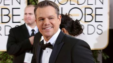 Matt Damon Golden Globe -gaalassa.