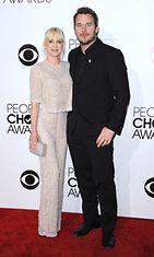 Anna Faris vierellään Chris Pratt.