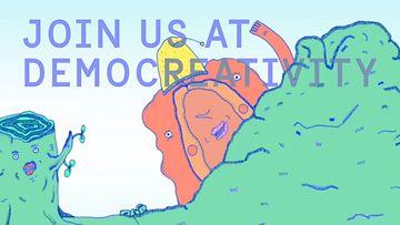 Democreativity -kuvakaappaus palvelun esittelyvideosta