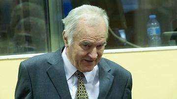 Ratko Mladic oikeudenkäynnissä Haagissa 16.05.2012.