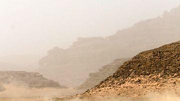 Kuvituskuvaa Wadi Rumin alueelta Jordaniasta.
