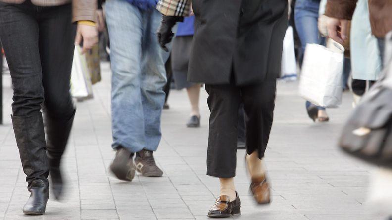 Ihmisiä jalkoja väestönkasvu