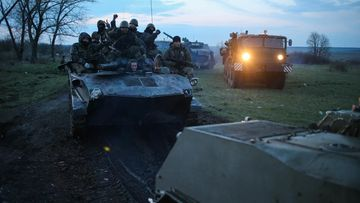 Ukrainan asevoimien raskaasti varustellut joukot liikkuivat tänään lähellä Slovjanskin kaupunkia.