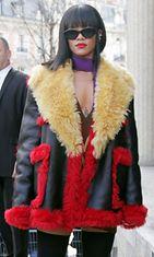 Rihanna, Paris Fashion Week Womenswear Fall/Winter 2014-2015 - Miu Miun näytös