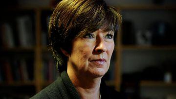 Ruotsin sosiaalidemokraattien johtaja Mona  Sahlin on ehdottanut, että koko puolueen johto asettuisi  ylimääräisen puoluekokouksen arvioitavaksi. Kuva: EPA