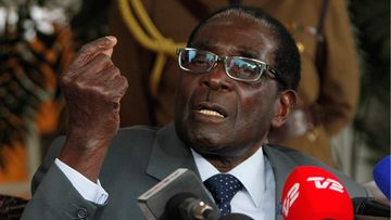 Zimbabwean President Robert Mugabe addresses a press conference at the Sate House in the capital Harare, Zimbabwe 30 July 2013. Mugabe said he is ready to relenquish power if he loses the elections. Presidential elections are scheduled for 31 July 2013 with Morgan Tsvangirai hoping to take power from president Robert Mugabe.