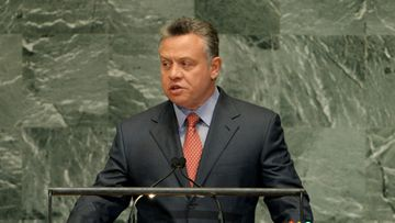 King Abdullah II Bin Al Hussein, King of Jordan, speaks during the 67th session of the United Nations General Assembly at United Nations headquarters in New York, New York, USA, 25 September 2012.