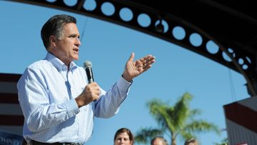 Former Massachusetts governor and Republican presidential candidate Mitt Romney campaigns in Dunedin, Florida, USA, 30 January 2012.