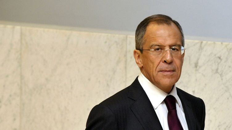 Minister of Foreign Affairs of Russia Sergey Lavrov before the 16th OSCE Ministerial Council Official dinner for the Heads of Delegation at the Finlandia Hall in Helsinki on December 4, 2008.