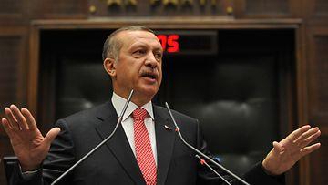 Turkin pääministeri Tayyip Recep Erdogan.