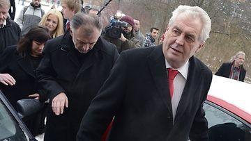 Tshekin presidentti Milos Zeman, vaalien alla 25.1.2013.