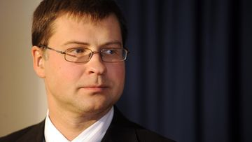 Prime Minister of Latvia Valdis Dombrovskis at the Finnish Prime Minister's Official Residence Kesaranta in Helsinki, Finland, on October 9, 2009 during his visit to Finland.