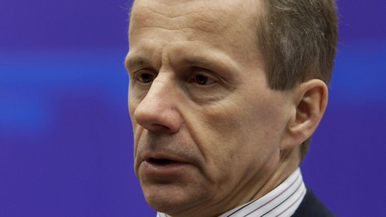 Estonian Finance Minister Juergen Ligi at the start of an Euro group Finance ministers meeting at the EU council headquarters in Brussels, Belgium, 17 January 2011.