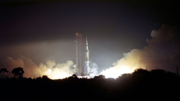 A handout photograph provided by NASA shows 'Apollo 17' mission being launched from the Kennedy Space Center in Cape Canaveral, Florida, USA, 07 December 1972. December 7th sees the 40th anniversary of NASA's final manned lunar landing mission in its Apollo program. While being the last mission to bring men to the Moon it on the other hand marked a premire as it was the first nighttime liftoff of a 'Saturn V' rocket.