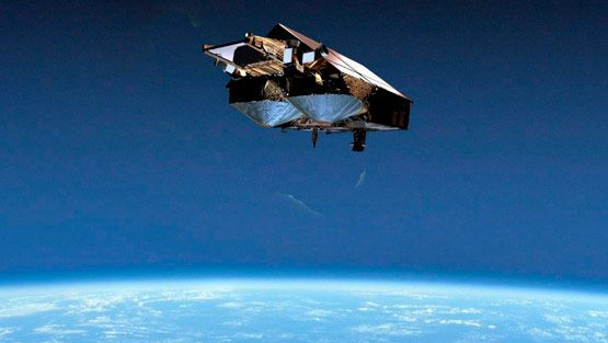 European Space Agency (ESA) on Thursday 29 September 2005 shows an artists impression of CryoSat in orbit (EPA)