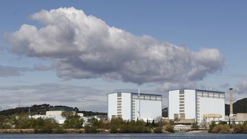 photograph showing a general view of the nuclear power plant of Marcoule, in Chusclan, France, 30 March 2011.