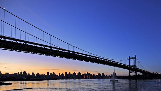 Triborough-silta New Yorkissa. (EPA)