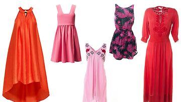 Kopioi mekkotyyli! Mekot oikealta vasemmalle: H&M, H&M, Odd Molly, SuperDry, Odd Molly