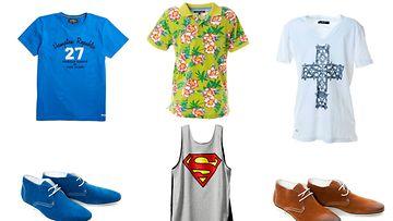 Paidat: KappAhl, Tommy Hilfiger, Liu Jo Jeans. Kengät Philosophy Blues Original, supermiestoppi H&M