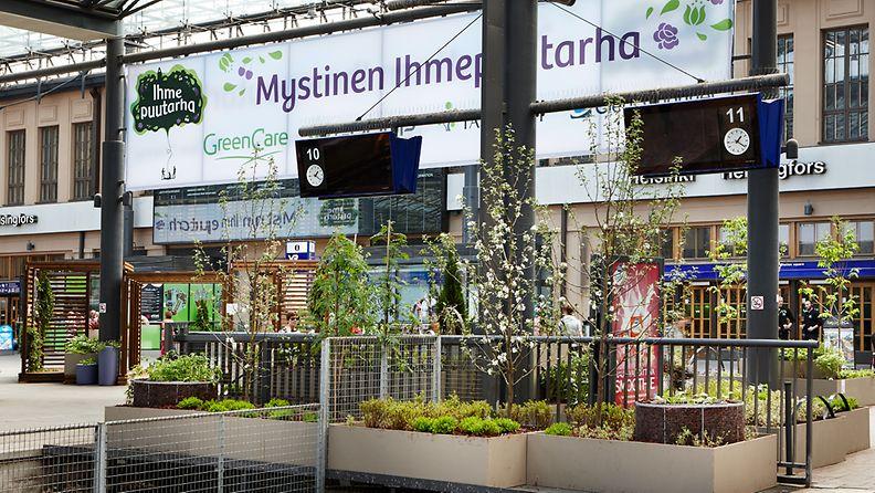 Ihmepuutarha Helsingin rautatieasemalla 2013. Kuva Green Care