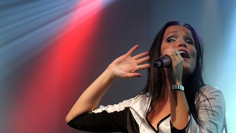 cFinnish rock singer Tarja Turunen performs at Petoefi Hall in Budapest, Hungary, late 20 June 2009.