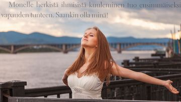 Kuvituskuva, lainaus Janna Satrin teoksesta Sisäinen lepatus – herkän ihmisen tietokirja