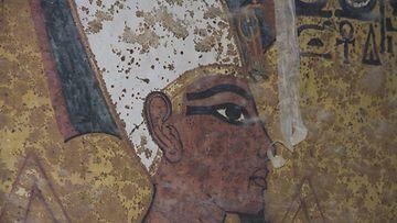Jäljennös Tutankhamonin kuvasta. Kuva: Egyptin turistiministeriö