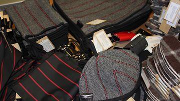 vankien valmistamia tekstiilejä