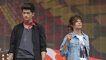 One Direction -poikabändin Zayn Malik ja Louis Tomlinson