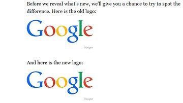 Googlen uusi logo. Kuvakaappaus Business Insider -sivustolta