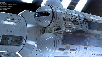 """Hahmotelma valoa nopeammasta avaruusaluksesta """"IXS Enterprise"""" Kuva: Mark Rademaker, Flickr"""