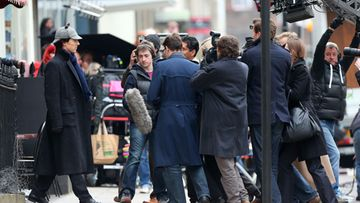 Sherlock Holmes -sarjaa kuvataan Lontoossa