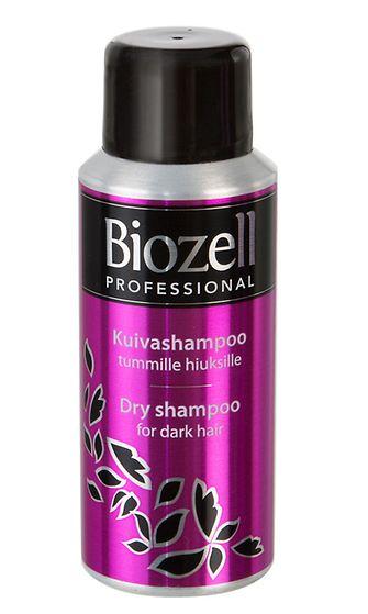 Biozell kuivashampoo tummille hiuksille