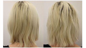 Tavalliset hiukset ja suolasuihke